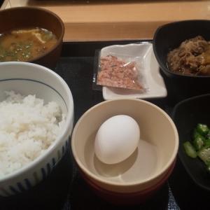 リーズナブルな牛丼チェーンで朝食(泉岳寺)