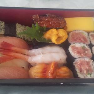 地元の寿司名店で出前ランチ(学芸大学)