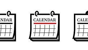 カレンダーは二つ以上かけると予定が立てやすい