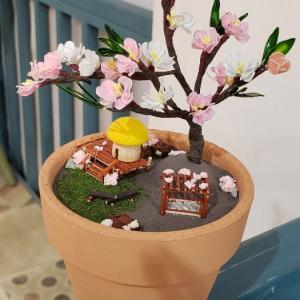 桃の花とたくさんのお花