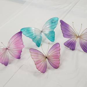 蝶々andガーベラ