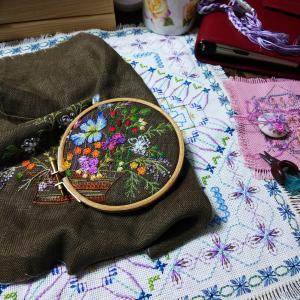小学生の刺繍✩初めてのフレンチナット
