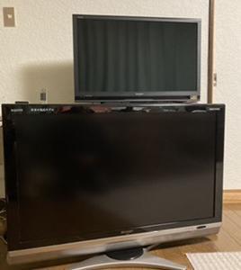 テレビを40型から 55型に買い替えました