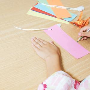 保育園で作った笹飾り【5歳の願いごと】