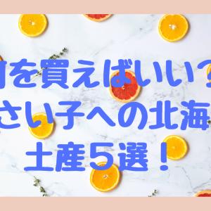 何を買えばいいの?小さい子への北海道土産5選!