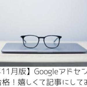 【2019年11月】ブログ開設11日目グーグルアドセンスに5記事で合格