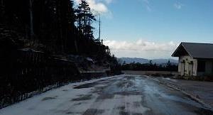 初雪?ドライブ