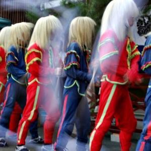放 生 祭「 棒 振 り 」