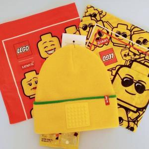 レゴとリーバイスのコラボ、ニット帽(ビーニー)とバンダナ