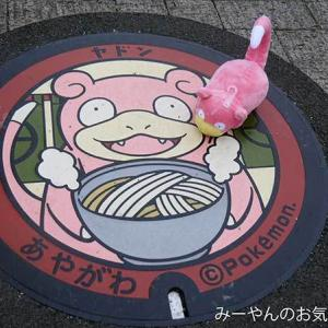 香川ヤドンマンホールの旅(31) 綾川町ヤドンマンホールGETだぜ!