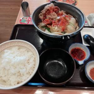 すき家の牛すき鍋定食&四川風牛すき鍋定食