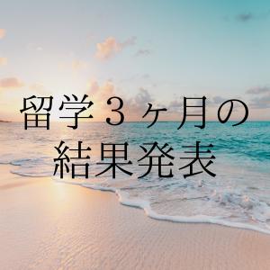 【3ヶ月の留学生活の結果】英語力の変化や海外生活について