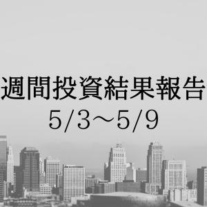 【日記】週間投資結果報告(5/3~5/9)