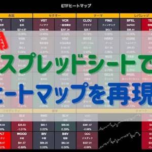 【大公開】スプレッドシートでヒートマップを再現する方法!主要ETFの値動きが一目瞭然!!