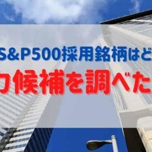 次のS&P500採用銘柄はどこだ!有力銘柄を調べてみた!