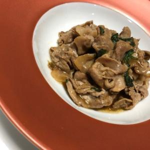 夏バテ対策レシピ|豚肉と大葉のわさび醤油炒め/やる気★★