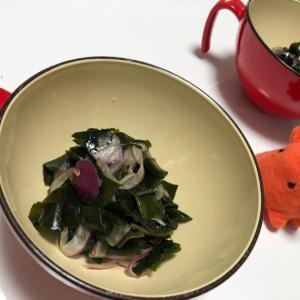簡単副菜レシピ|わかめと玉ねぎのポン酢サラダ/やる気★★