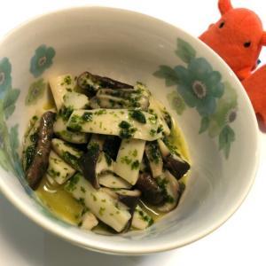 【きのこの青のりバターソテー】電子レンジで作る簡単副菜レシピ/やる気★★