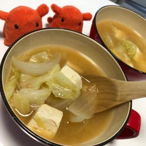 【春キャベツと新玉ねぎの味噌汁】春を感じる野菜の味噌汁レシピ/やる気★★★