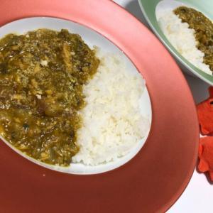 【炊飯器で作るサバとツナのカレー】缶詰で簡単玉ねぎとろけるシーフードカレー/やる気★★