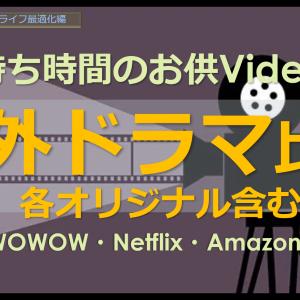 【海外ドラマの面白さ!】待ち時間のお供Video、WOWOW・Netflix・Amazon Prime Videoなどの3サービスドラマを比較!シンプルライフ パソコン初心者さんの失敗回避