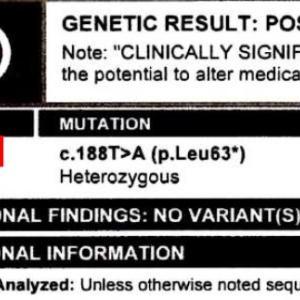 遺伝子検査の結果は?