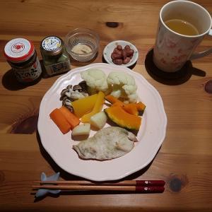 蒸し野菜の夕飯