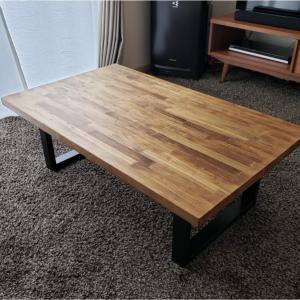 1万円台で作れる!ウォールナット色のアイアンローテーブル