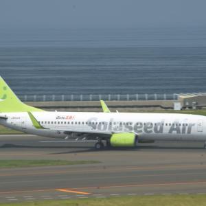 空いている空港は風を自在に操る・・・ってわけでは無いけど (6/26セントレア)