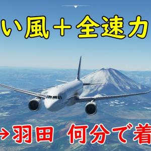 超追い風の中 伊丹から羽田まで全速力で飛行したら何分で着く?【Microsoft Flight Simulator2020】