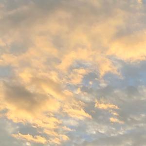 今日の空「オレンジ色の雲🧡」