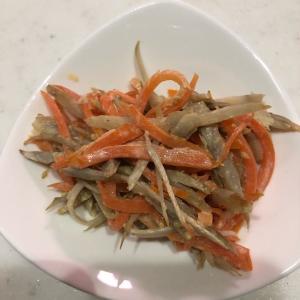 ゴボウの料理✨「ゴボウと人参の温サラダ」食物繊維た~っぷり(^_-)-☆