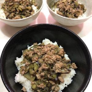 〜家族がつどう昼ごはん〜丼ぶりシリーズ🍚✨【なす丼】なすとひき肉だけで超おいしい(≧◇≦)💕魔法のレシピ