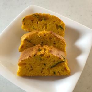 至福の朝ごはんシリーズ💕「かぼちゃケーキvol.2」ホワイトチョコを使い、ホットケーキMIXは使わない、上品なしっとり感✨