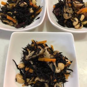 【ひじきの煮物】サラダ豆を使って彩もよく(*^^*)腸活に効果的⤴✨