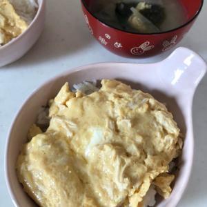 ミニ鶏のささみ丼🍚✨「登校日の朝ごはん」お肉を入れてスタミナUP⤴✨