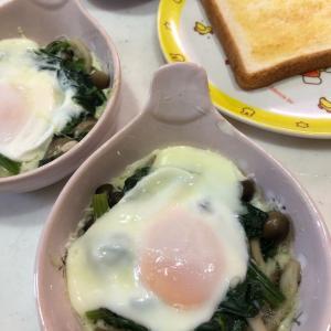 ポパイエッグ~ほうれん草と卵でバランスOK👌✨~朝から栄養満点💯
