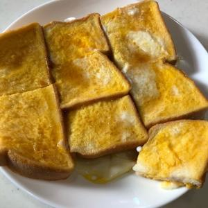 フレンチトースト💛「厚切りパンで高級感アップ( ˆoˆ )/」甘くてしっとり食べやすい✨