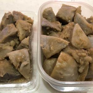 赤ガラの煮物「ホクホク感抜群💛」里芋の一種「丸系八つ頭」といいます(*^-^*)