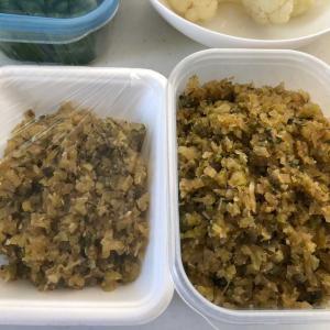 カリフラワーの葉っぱの佃煮「捨てずに大事にいただく(*^-^*)💕」ここも立派な野菜です♬