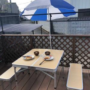 おうちカフェ♬「新しいテーブルセットで朝食を💕」たまには気分を変えておうちを楽しみましょう(*^▽^*)