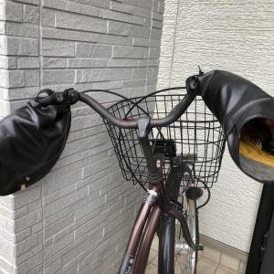 自転車のアームカバー「破れても捨てずに補正(*^▽^*)」アームカバーは冬の必須アイテム✨