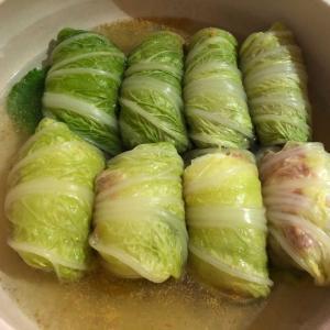 ロール白菜「ゆで卵を入れた爆弾ロール白菜も面白い(*^▽^*)」