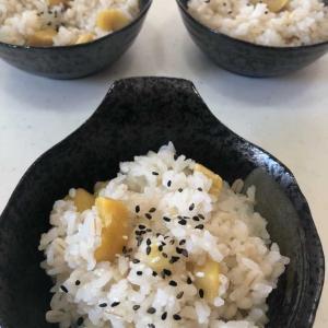 栗ご飯を作りました🌰「もち米を入れてモチモチ美味しい(≧◇≦)💕」