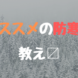最近寒すぎる!!!雪国に住む人間の防寒対策教え〼