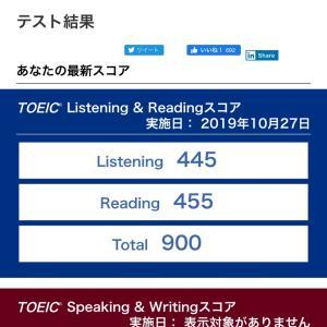 TOEIC10,000本ノック141日目 2019年10月27日第244回TOEIC結果