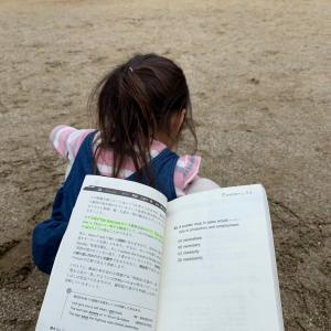 公園で文法特急&コチの刺身