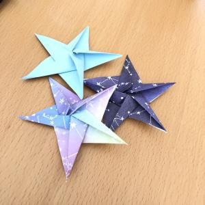 高齢者が喜ぶ季節の折り紙|笹飾りにも最適♪1枚で折る星の折り方