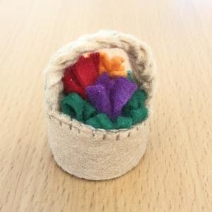 ペットボトルキャップの花かご作り方|大人も高学年の子にも最適な工作