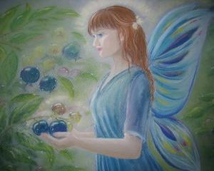 自然の天使たち・写真とイラスト